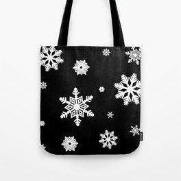 Snowflakes | Black & White Tote Bag