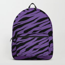 Purple Tiger Stripe Mug Pattern Backpack