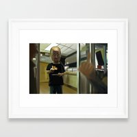 louis ck Framed Art Prints featuring Louis CK Caricature by Richtoon