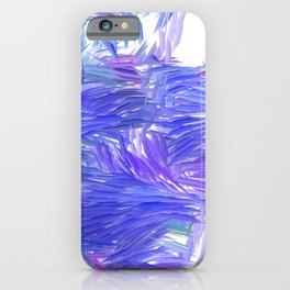 Blue Purple Brushstrokes Abstract iPhone Case
