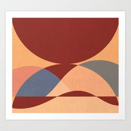 Sinuous Curves 1 Art Print