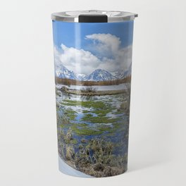 Grand Tetons from Willow Flats in Early April Travel Mug