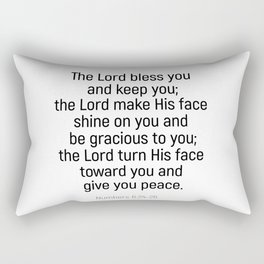 Numbers 6 24 #bibleverse #scriptures #blessing Rectangular Pillow
