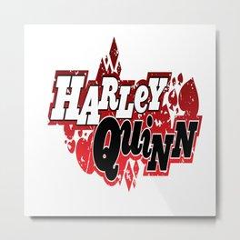 Harley Quinn Logo Metal Print