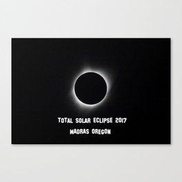 Total Solar Eclipse 2017 Canvas Print