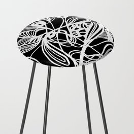 Overgrown Abstract Flower Inverse Counter Stool