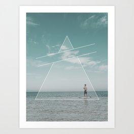 Paddle Triangle Art Print