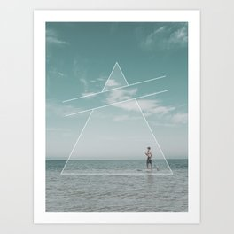 Paddle Triangle Art Print