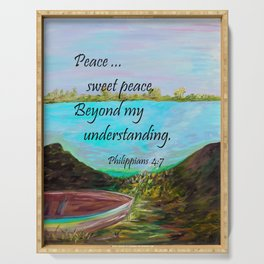 Peace Sweet Peace Serving Tray