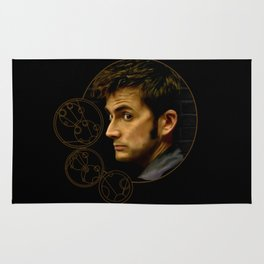 The Tenth Doctor with Gallifreyan Rug