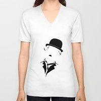 charlie V-neck T-shirts featuring Charlie by Amanda Pays