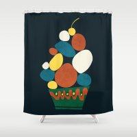 dessert Shower Curtains featuring Dessert by Picomodi