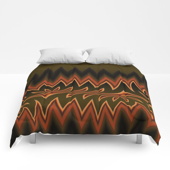 Fractal Tribal Art in Autumn Comforters