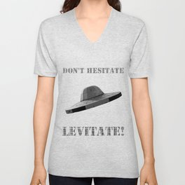 Don't hesitate, levitate! Unisex V-Neck