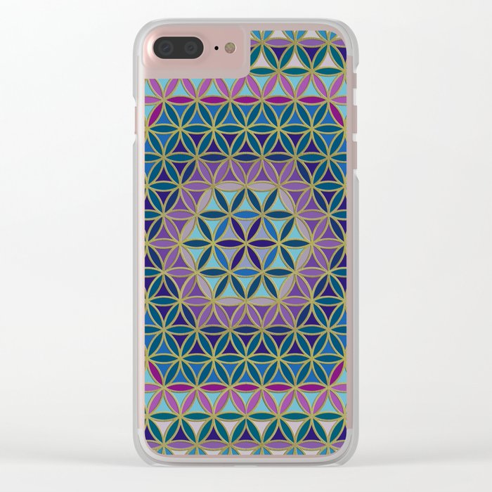 Flower of Life variation #3 Clear iPhone Case