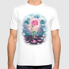 The Magical Rose MEDIUM White Mens Fitted Tee
