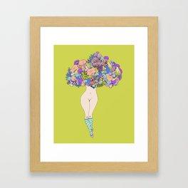 shroom lady Framed Art Print
