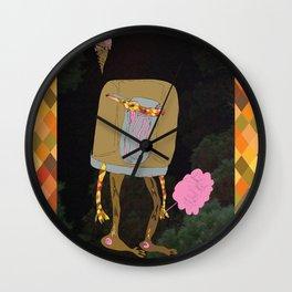 Silence Walks Wall Clock