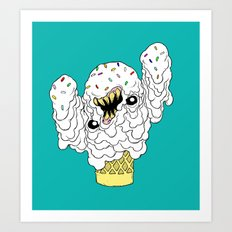 The Ice Cream Man Art Print