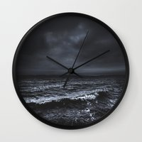 snow Wall Clocks featuring I´m fading by HappyMelvin