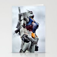 gundam Stationery Cards featuring Gundam Pride by Julie Maxwell