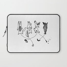 whose that poo? connect the poo to the right animal Laptop Sleeve
