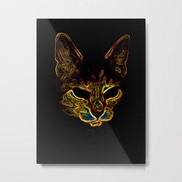 Bad kitty kitty Metal Print