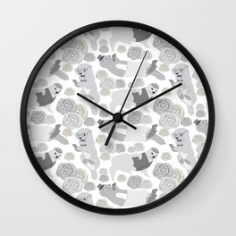 Hipster otters Wall Clock
