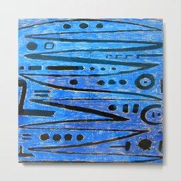Paul Klee Heroic Strokes Metal Print