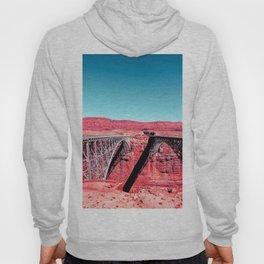 bridge in the desert with blue sky in summer, USA Hoody