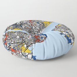 Istanbul mondrian Floor Pillow