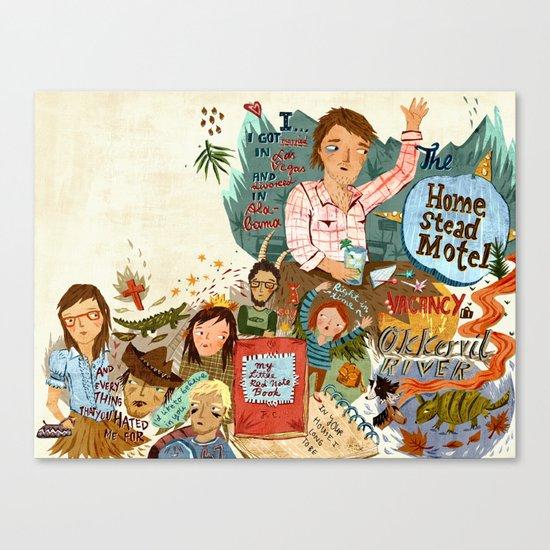 Music collage Canvas Print