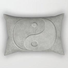 Yin and Yang Symbol embossed  concrete stone Rectangular Pillow