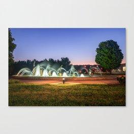 Kansas City Children's Fountain at Dawn Canvas Print