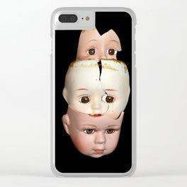 Little Broken Dolly Face - Halloween III Clear iPhone Case