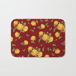 Autumn Chrysanthemums Bath Mat