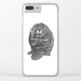 Beaver Clear iPhone Case