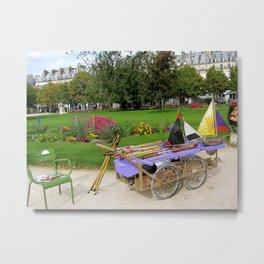Tuileries Garden Boat Rental Metal Print
