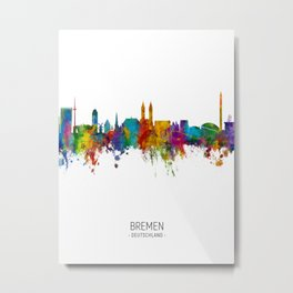 Bremen Germany Skyline Metal Print