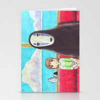 spirited away Stationery Cards featuring Spirited Away by Janice Wong