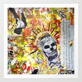 Truth the Fallen King Mixed-Media Collage Art Print