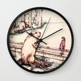 The Girl & The Beaver (or, Is It Alright if I Take Notes?) Wall Clock