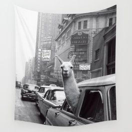 New York Llama Wall Tapestry