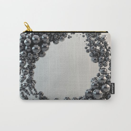 Black bubble Carry-All Pouch
