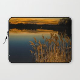 Nature Landscape Photography - Sunset at Reedy Point Pond Laptop Sleeve