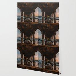 California Pier Sunset Wallpaper