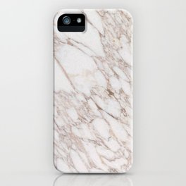 White Marble Carrara Calacatta iPhone Case