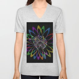 Abstract perfection 201 Unisex V-Neck