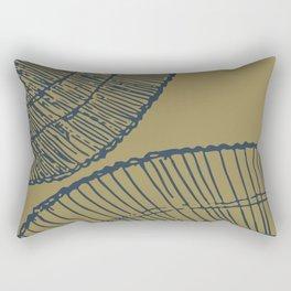 Threaded (navy and ochre) Rectangular Pillow
