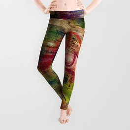 525,600 Minutes Collage Leggings